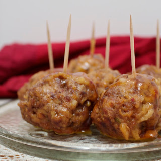 Chicken sausage beef meatballs with Orange sauce