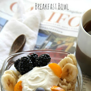 Barley Banana Berry Breakfast Bowl