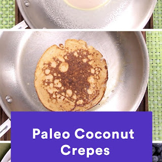 Paleo Coconut Crepes With Mixed Berries