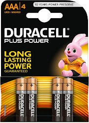 Duracell Plus Power Alkaline AAA Batteries - 4 Pack