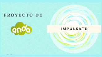 """Cartel del Proyecto \""""IMPÚLSATE\"""" de la Asociación de Niños con Discapacidad de Almería."""