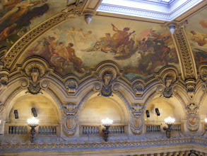 Photo: And the ceiling, from not far away. These upper reaches had an important role in the setting for Gaston Leroux's 1910 novel The Phantom of the Opera.