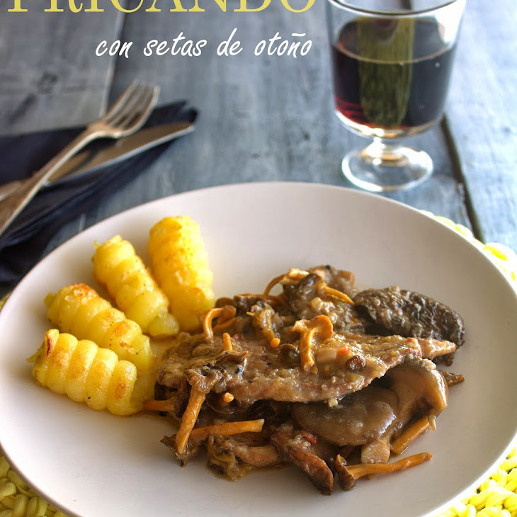 Fall Veal and Mushrooms Fricassee Recipe