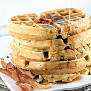 Bacon Chocolate Chip Waffles.