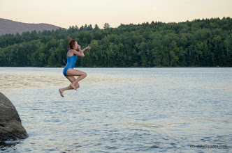 Photo: Jumping into the water at Little River State Park by Kristy Willey