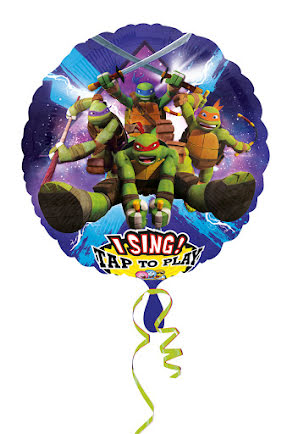 Folieballong Turtles, sjungande