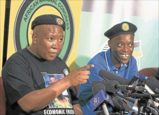 ON APPEAL: ANC Youth League president Julius Malema and secretary general Sindiso Magaqa                             Photo: PUXLEY MAKGATHO