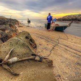 The Life Of Fisherman  by Mohd Tarmudi - People Street & Candids ( punggor beach ... malaysia,  )