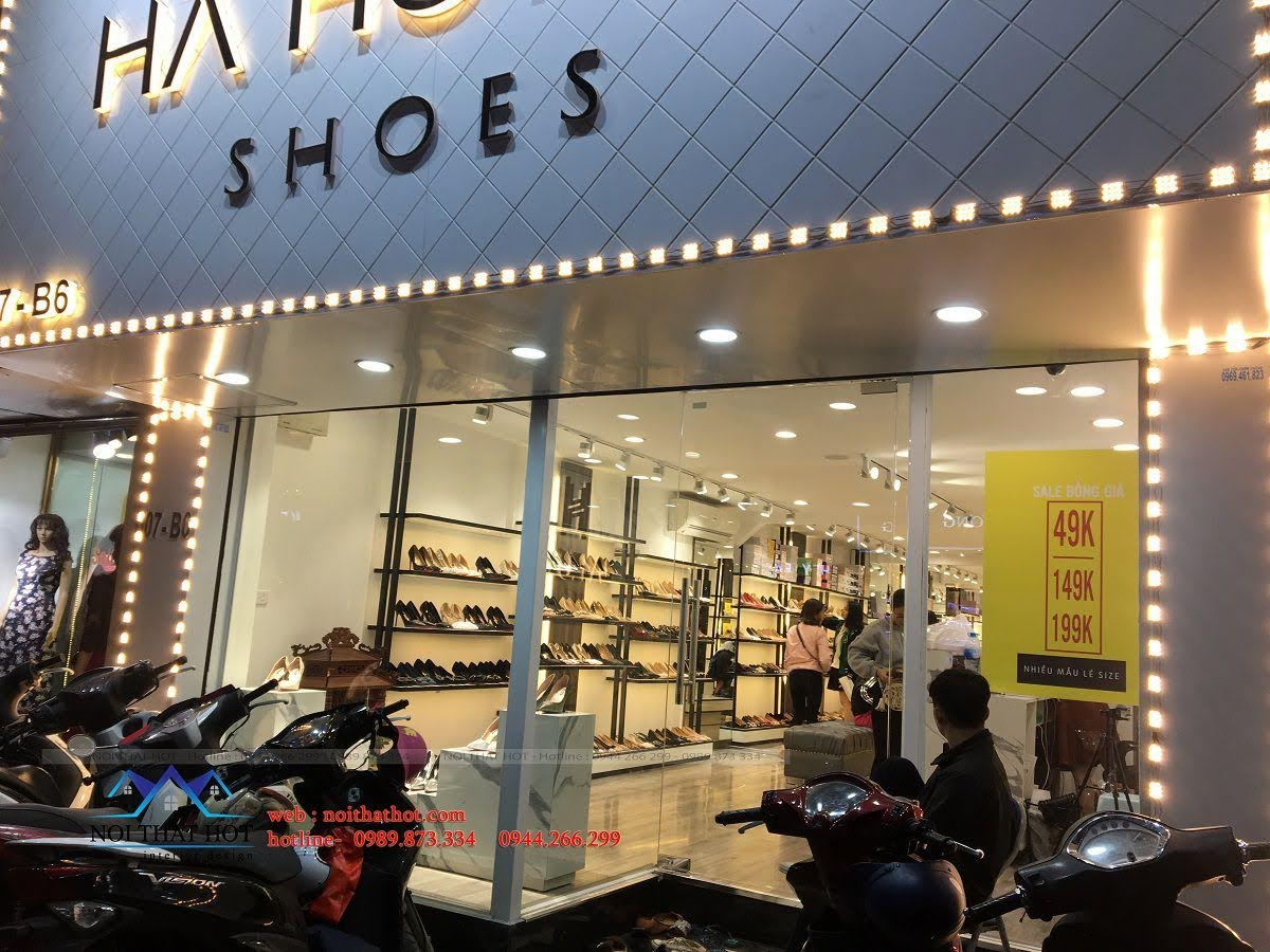thiết kế thi công shop giày dép thời trang ha huyen 2