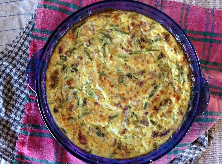 Lightened Up Crustless Cottage Cheese Quiche Recipe Just