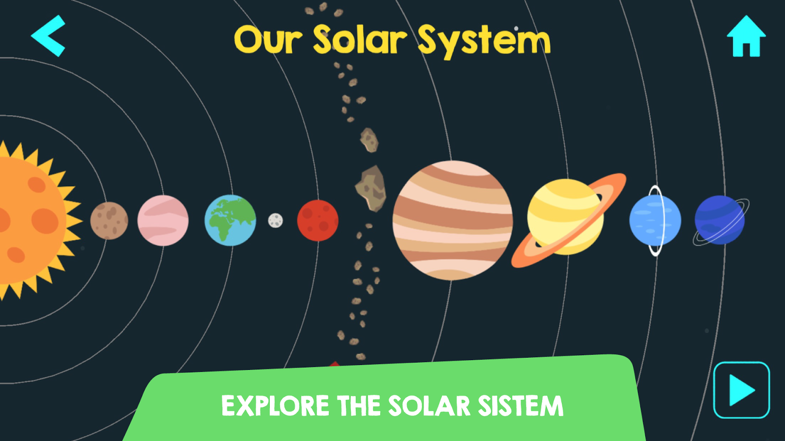 Cosmolander - The solar system- screenshot