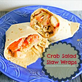 Crab Salad Slaw Wraps