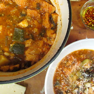 Tuscan Vegetable, Bean and Bread Soup Recipe