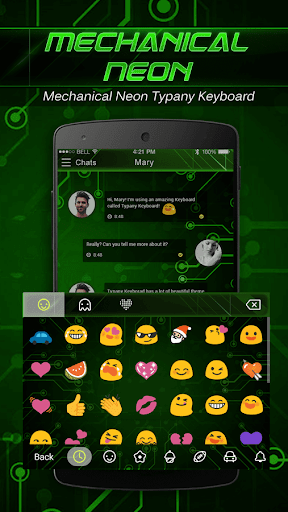 mod Mechanical Neon Emoji Keyboard 4.5 screenshots 3