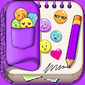 Purple Diary with Lock icon