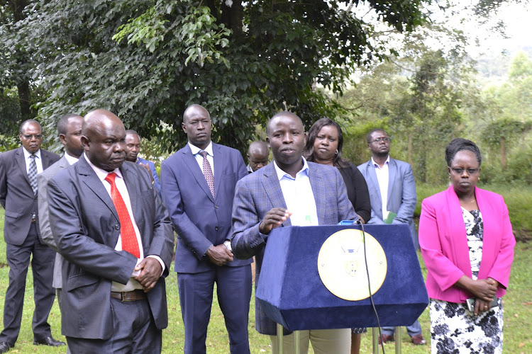 Governor Stephen Sang and county officers