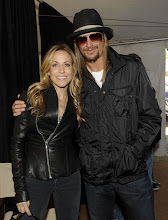 "Photo: WASHINGTON, DC - OCTOBER 30: Musicians Sheryl Crow and musician Kid Rock  backstage at the ""Rally to Restore Sanity And/Or Fear"" at the National Mall on October 30, 2010 in Washington, DC. (Photo by Frank Micelotta/Getty Images)"