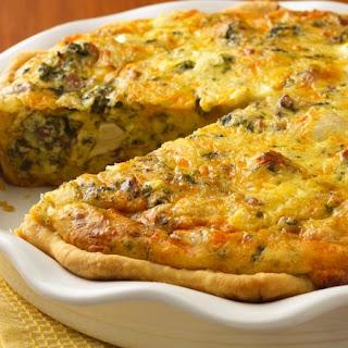 Chicken-Asiago-Spinach Quiche Recipe