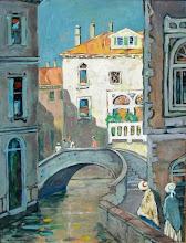 """Photo: Jane Peterson, """"Figure lungo un canale veneziano in estate"""""""