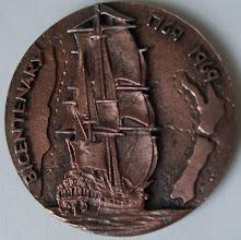 Photo: Medallion we received - back