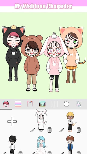 My Webtoon Character - K-pop IDOL avatar maker modavailable screenshots 7