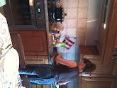 Photo: Fernando making supper last night