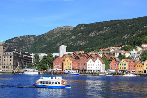 Norway-Bergen-waterfront - The scenic port of Bergen, Norway, is a starting point for many sightseeing excursions of the Norwegian fjords.