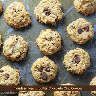 Flourless Peanut Butter Chocolate Chip Cookies! No Butter & Naturally Sweetened too!