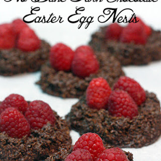 No Bake Dark Chocolate Easter Egg Nests