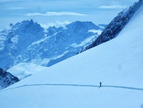 Photo: Berni seul dans l'immensité de la  montagne