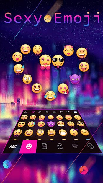 Sexy Emoji Keyboard Android App Screenshot