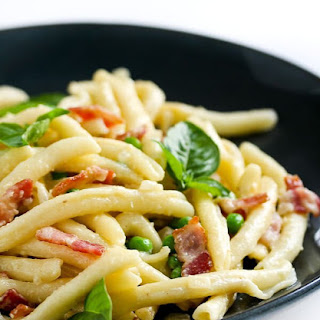 Pasta, Bacon and Peas.