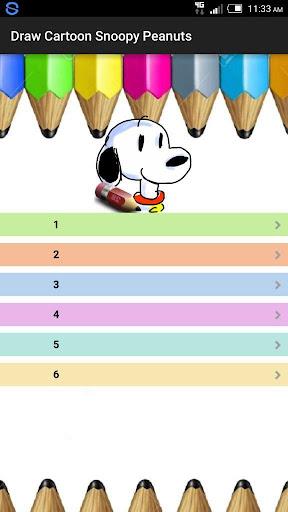 Draw Cartoon Snoopy Peanuts