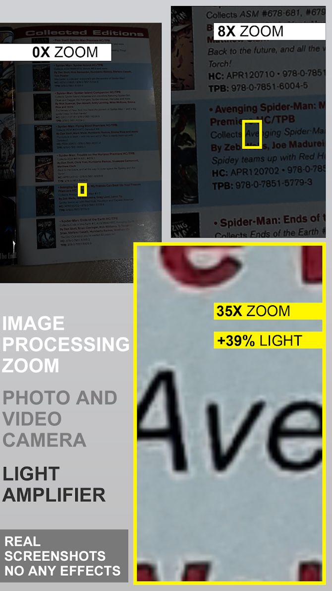 Pocket Eyes 35x zoom Photo & Video Magnifier Android 5