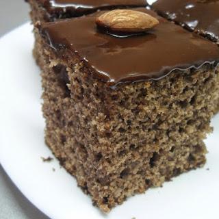 Carob Brownies with Chocolate Glaze