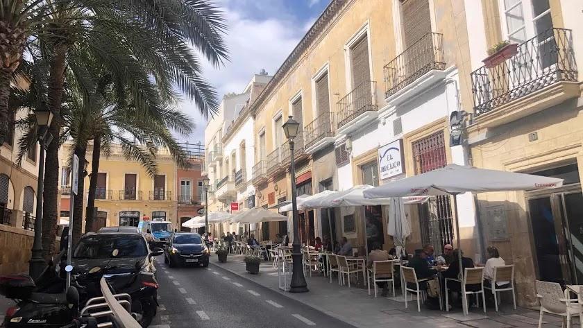 Imagen de archivo de terrazas en la capital almeriense.
