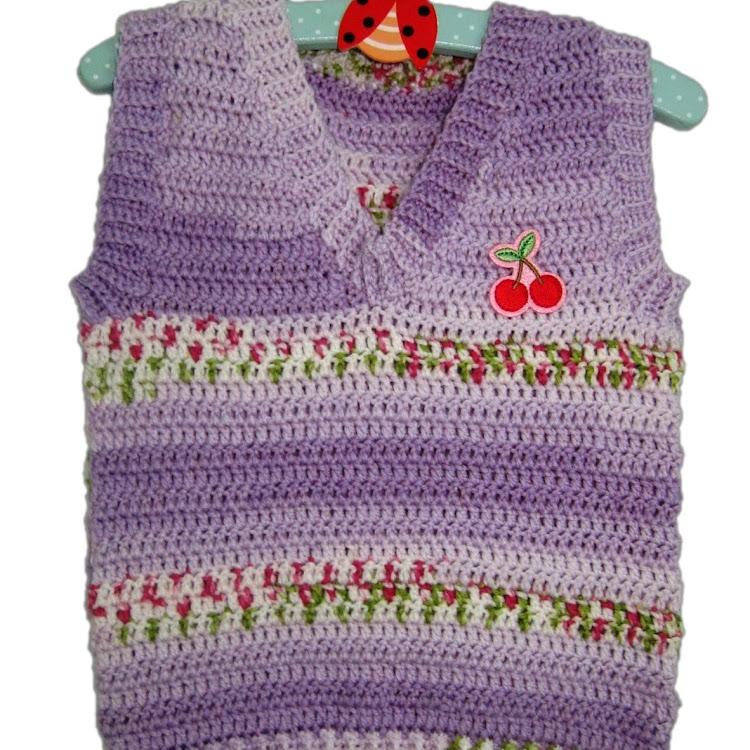 Baby Sweet Vest - Sweet Lilac by Crochet Heart