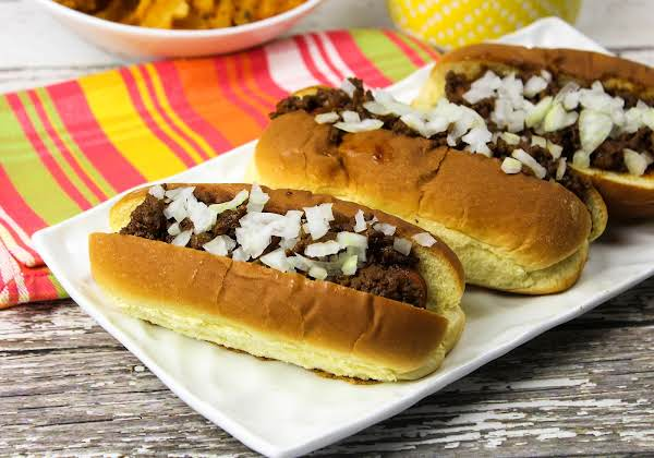 Texas Hot Dogs With Chili Sauce.