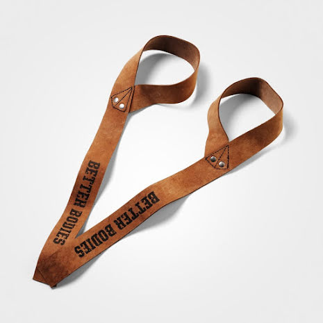 Better Bodies 1,5 Inch Leather Straps Brown