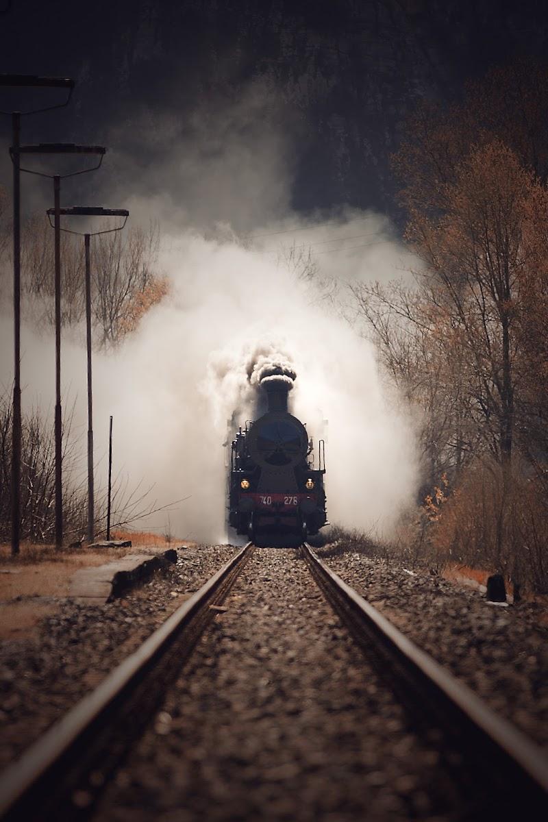 Treno a vapore direzione Castelnuovo Garfagnana  di Simonetti Andrea