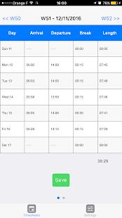iziTime : Work hours planning - náhled