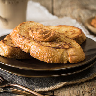 Cream Cheese Topped French Toast with Pumpkin Spiced Cream Cheese
