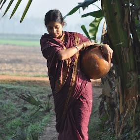 Village Women by Prasun Sanyal - People Portraits of Women ( village, women )