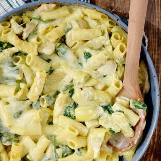 One Pot Spinach Artichoke Pasta.