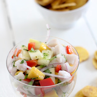 Pineapple + Mango Swordfish Ceviche