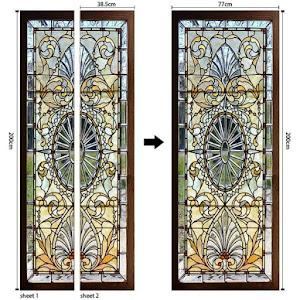 Autocolant decorativ pentru usa, vitraliu - 76 x 220 cm