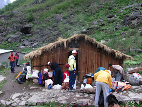 Photo: 2nd halt at Bugdyar (8,028 ft), night stay in roadside tea-house