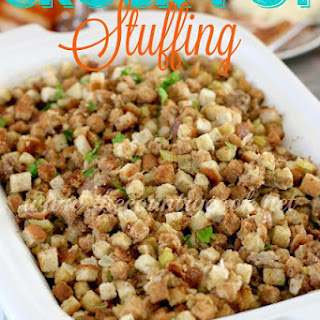 Crock Pot Stuffing.