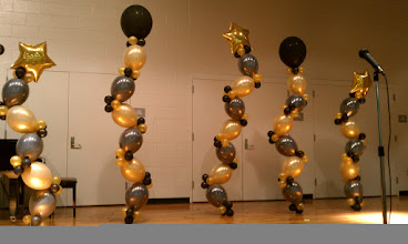 Photo: Jazzy towers in black & gold!