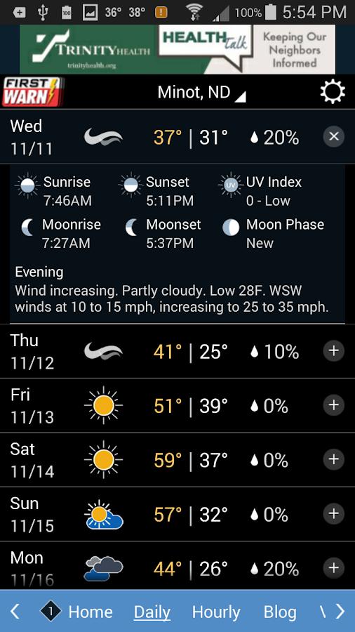 KMOT-TV First Warn Weather- screenshot